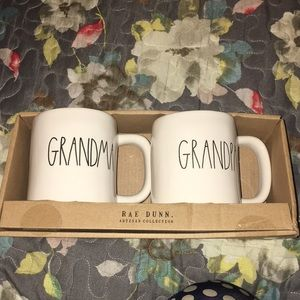 Rae dunn grandma and gramps mugs NWT
